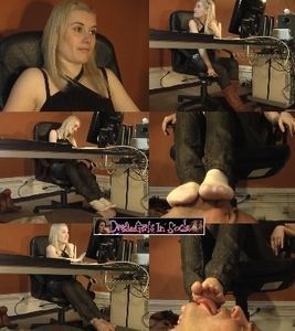 Cindy's Office Foot Worship Slave